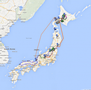 Tentative Hokkaido route